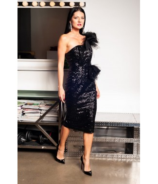 Rochie midi conica din...